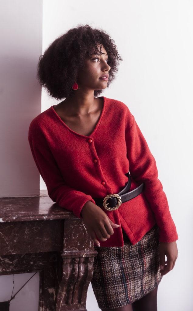jupe en laine fabrication française
