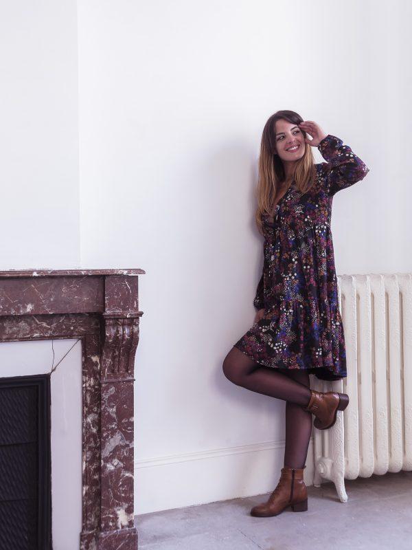 robe Léa 100 % viscose fabriquée en France