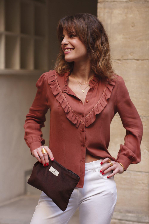 blouse en crêpe de soie made in france