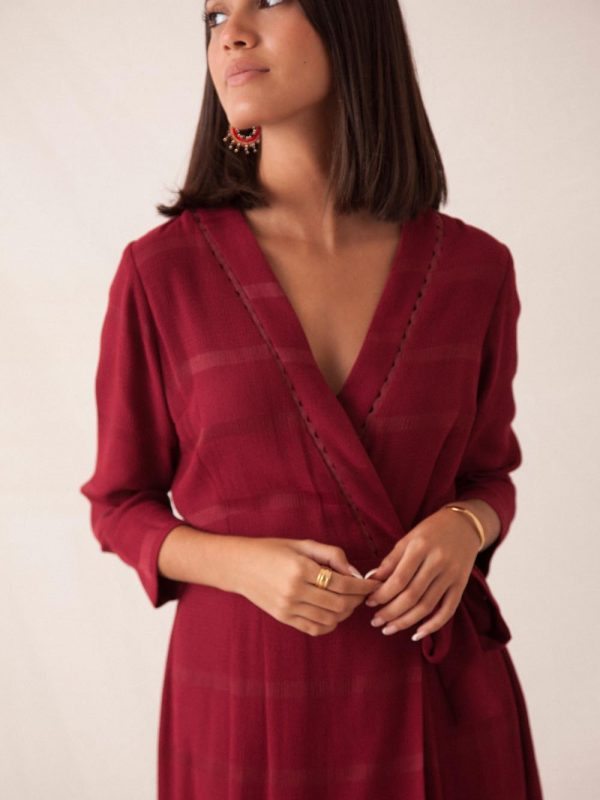 robe bordeaux made in France