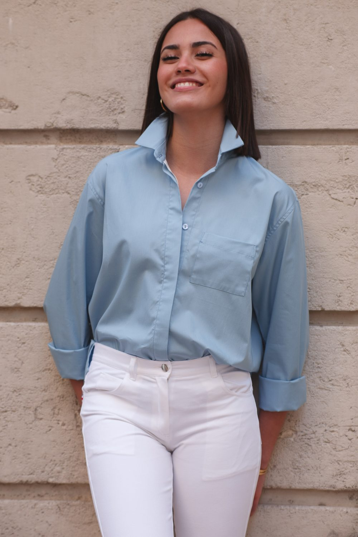 Chemise Warren en coton bleu