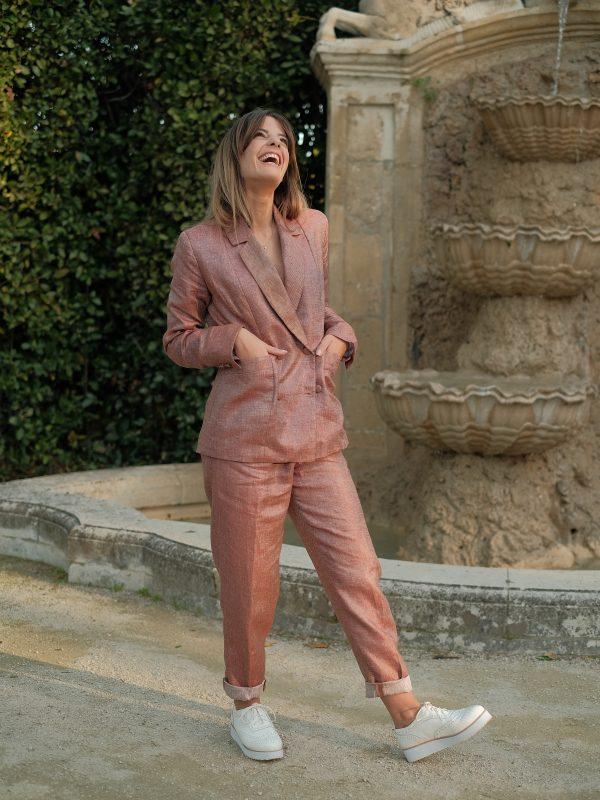 pantalon en lin made in France