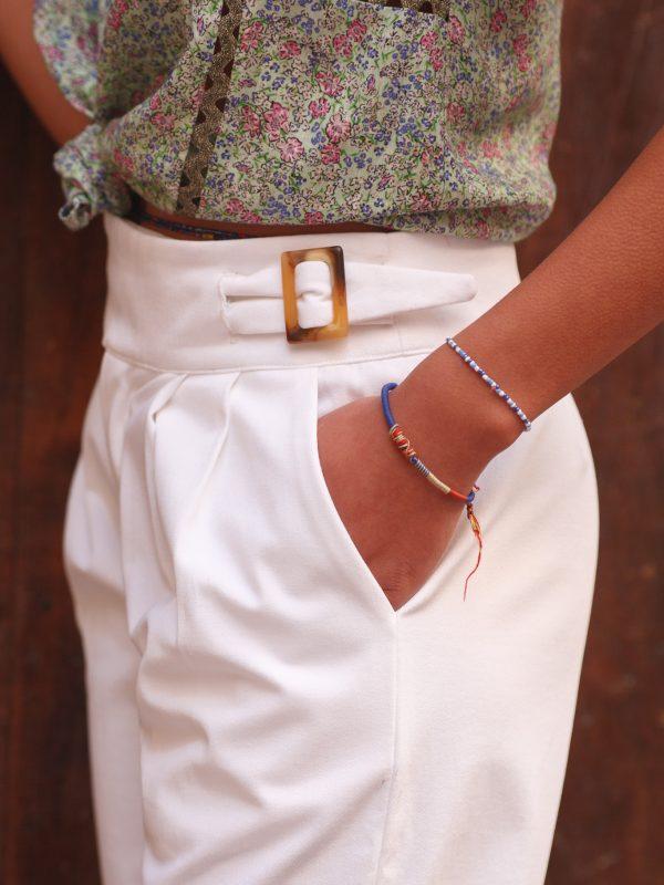 pantalon en jean blanc made in France