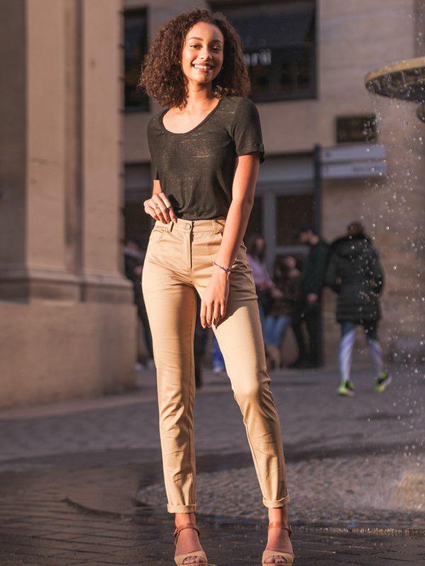 jean beige made in France