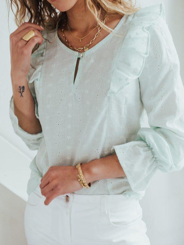 blouse femme vert d'eau