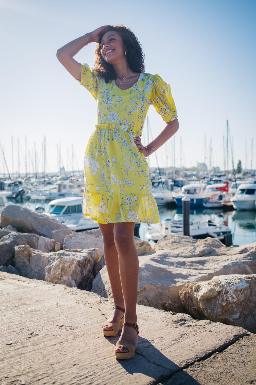 robe jaune fabrication française