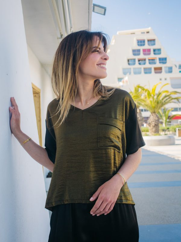 joli top à la coupe oversize made in France