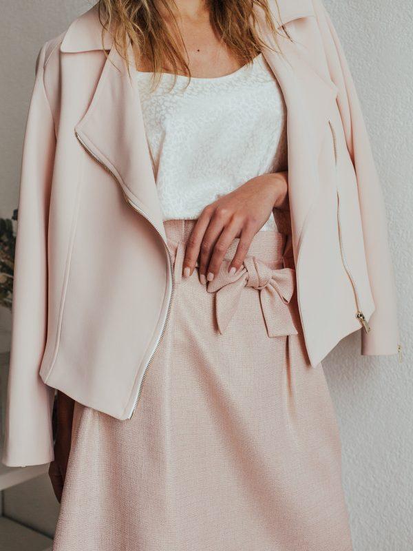jupe demoiselle d'honneur couleur rose irisé