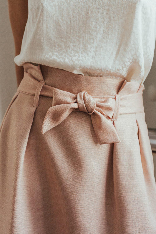 jupe demoiselle d'honneur rose irisé