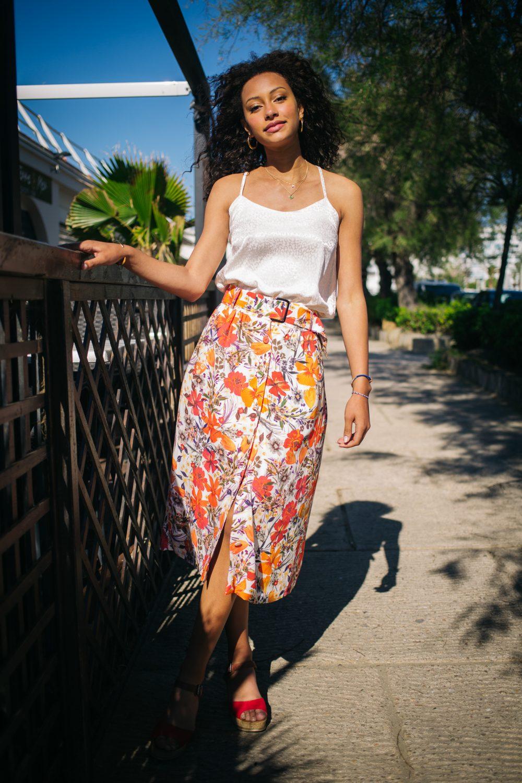 jupe colorée fluide pour un été en couleurs