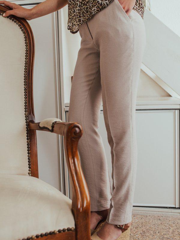 pantalon en lin viscose made in France