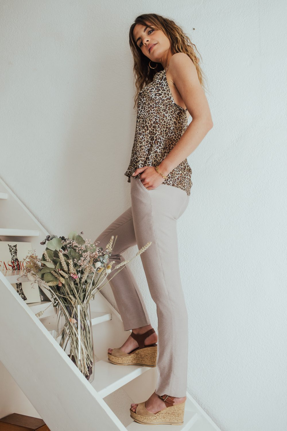 pantalon couleur beige made in France
