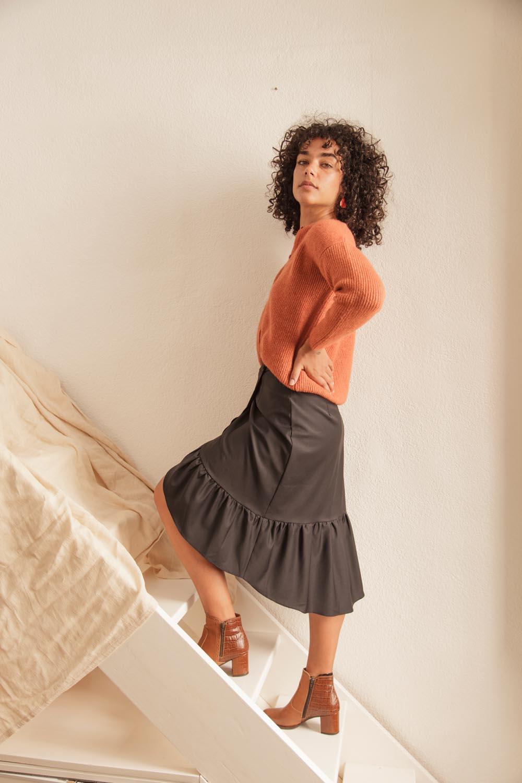 jupe femme en laine fabrication française