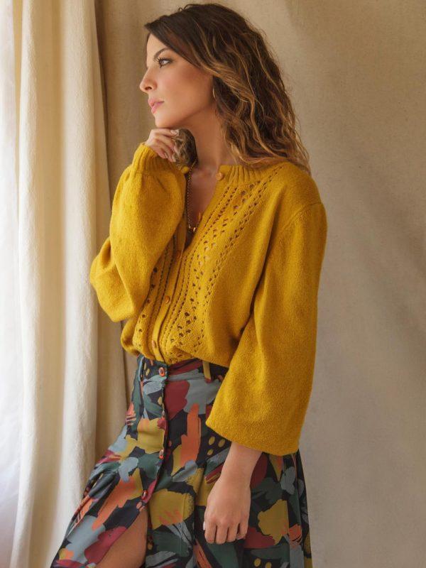jupe en polyester recyclé pour une mode éthique