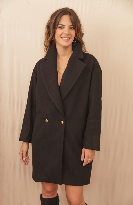 manteau confortable en laine et cachemire recyclé