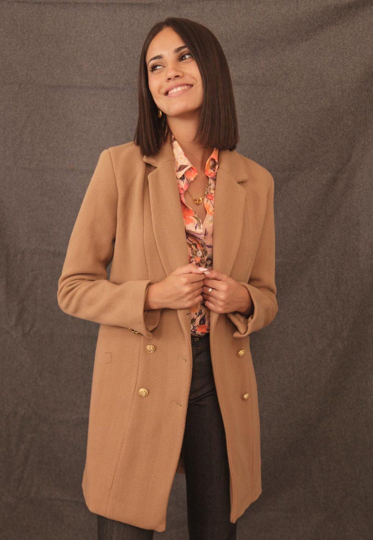 manteau couleur camel fabrication française