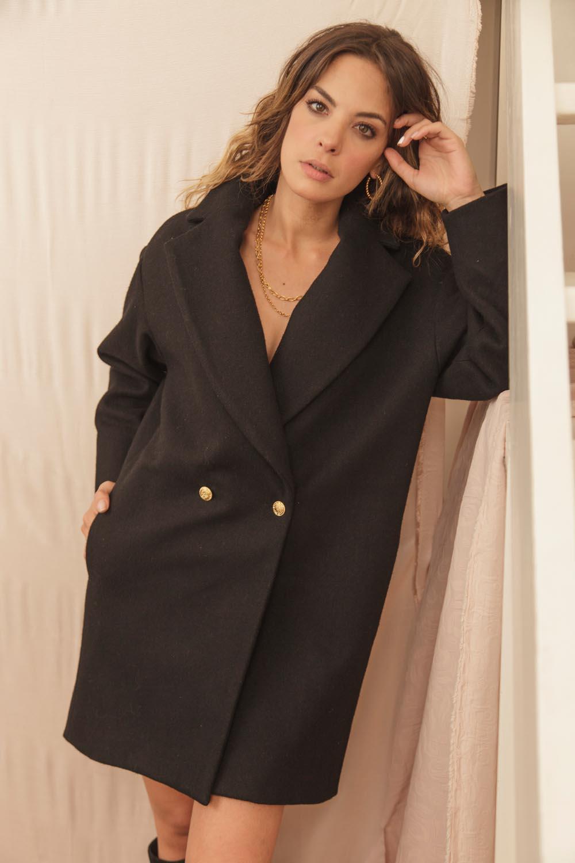 manteau made in France en laine et cachemire recyclé