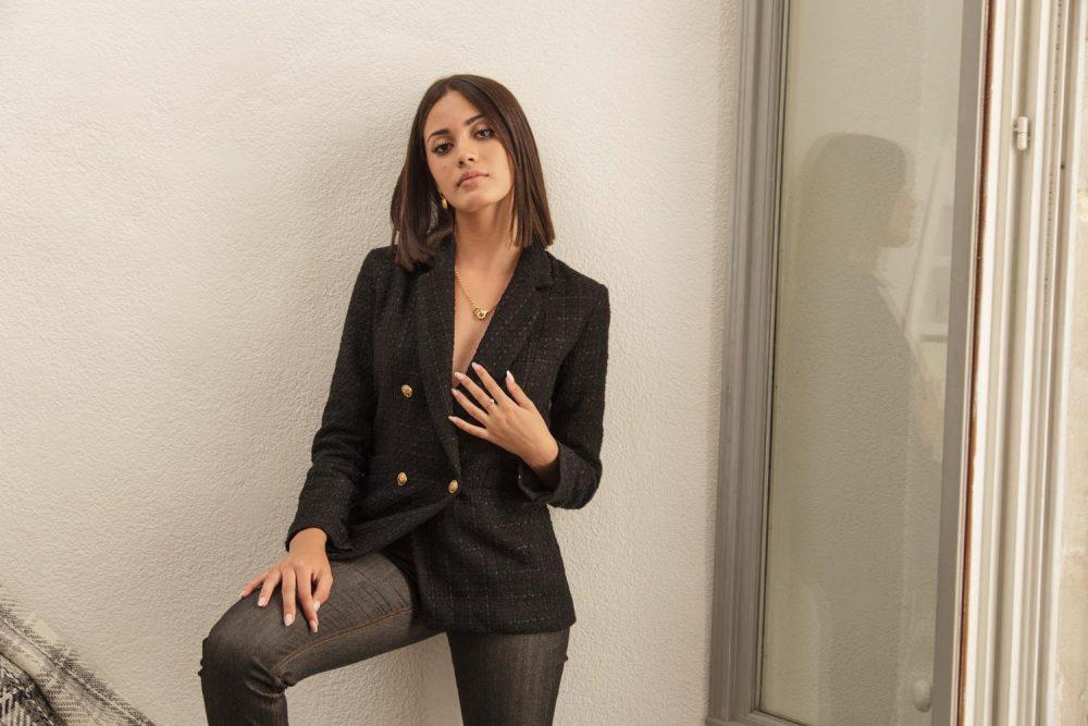 veste noire pièce créateur