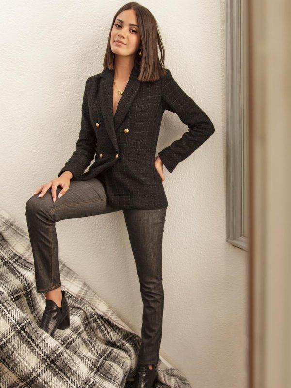 veste noire très chic