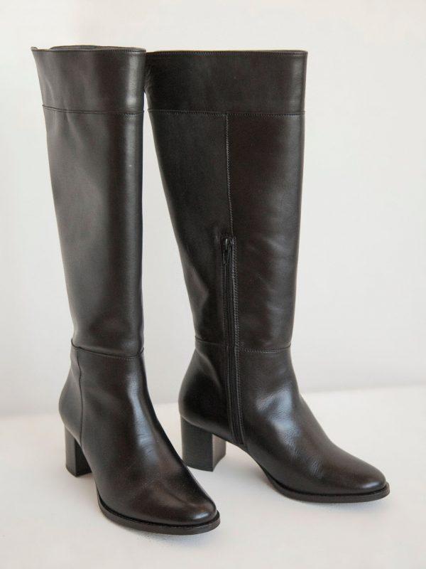 nouveautes, chaussures - Bottes Lorie en cuir noir